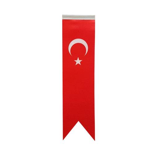 Sublimasyon T Tipi Kırlangıç Türk Masa Bayrağı