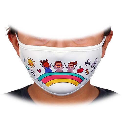 Sublimasyon Yıkanabilir Biyeli Maske - Çocuk