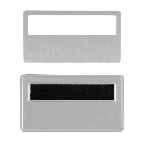 Sürgülü Metal Yaka İsimliği (gümüş)