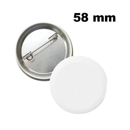 Uv Baskı İçin 58 mm İğneli Buton Rozet